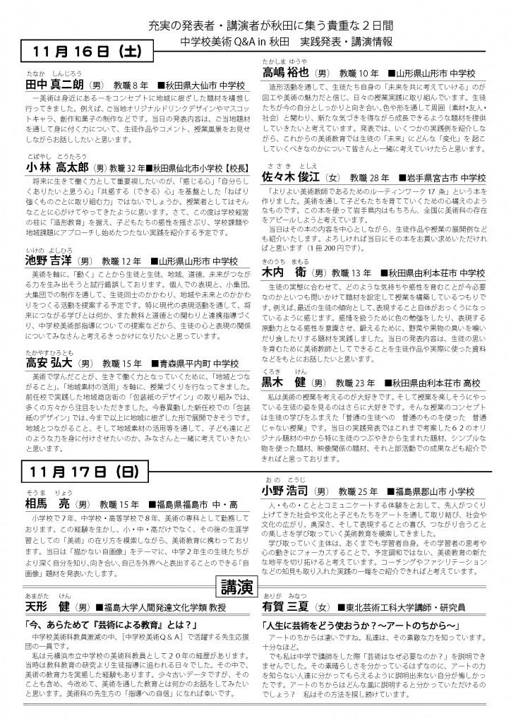 中学校美術Q&A秋田発表者紹介